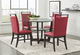 Red dining table set Contemporary Red Dining Room Sets1 Of Results Rooms To Go Red Dining Room Sets For Sale