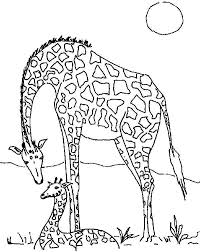 Small Picture Giraffe in the Meadow Coloring Page NetArt