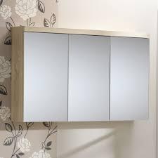 Bathrooms Design Illuminated Bathroom Mirror Cabinet In Wall