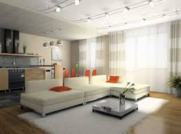 image modern track lighting. Designs Ideas:Ultra Modern Living Room With White Sectional Sofa And Small Coffee Table Under Image Track Lighting