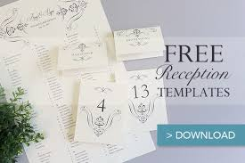 Template For Place Cards Free Free Printable Wedding Reception Templates The Budget Savvy Bride