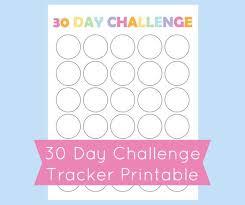30 Day Challenge Tracker Printable 30 Day Challenge