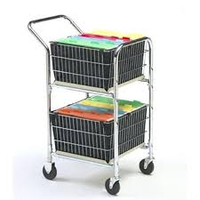 Rolling File Cart On Wheels Folding Office Storage Home Syncmotion