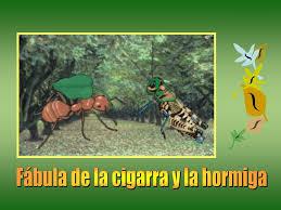 PPT - Fábula de la cigarra y la hormiga PowerPoint Presentation, free  download - ID:5279135