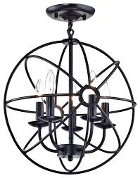 chandelier flush mount fixture mini crystal semi sputnik sphere cage globe industrial home improvement likable design