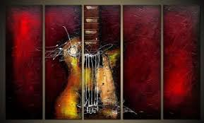 guitar passion modern canvas art wall decor abstract oil painting wall art with stretched on guitar canvas wall art red with guitar passion modern canvas art wall decor abstract oil painting