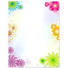 Simple Flower Chart Paper Border Designs Bedowntowndaytona Com