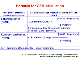 formula for gfr calculation