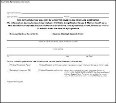 Sample Medical Records Release Form Medical Records Release Form Sample Lexu Tk
