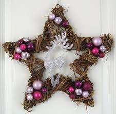Stern Türkranz Weihnachten Rosa Lila Silber 35cm Advent