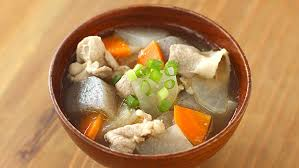 the tonjiru is very healthy highly nutritious as it cooks many vegetables with meat ginger and miso have the effectiveness of keeping you warm