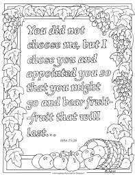 Artistic or educative coloring pages ? Coloring Pages For Kids By Mr Adron John 15 16 Printable Coloring Page You Did Not Choose Me But I Chose You Verse