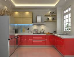 unique kitchen lighting ideas. guidelines for u shaped layout with unique kitchen lighting ideas wall shelves and red drawers h
