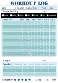 free workout log fitness diary workout log training diary for ypu personal plan