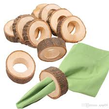 creative wooden napkin rings rustic napkin holder vintage wood dining gifts wedding home kitchen table setting decoration bone napkin rings brass napkin