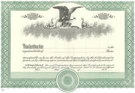 Template For Stock Certificate Stock Certificate Templates Free Sample Example Format