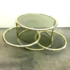 small vintage table brass and glass coffee table small round by vintage side