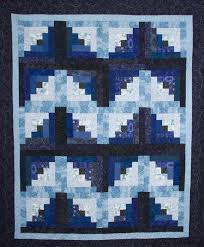 Free Log Cabin Block Patterns: 7 Modern Designs & Blue Chevron Log Cabin Quilt Adamdwight.com