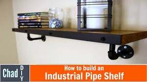 DIY Industrial Pipe Shelf with Man Cave Tour