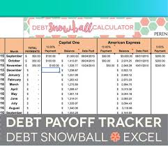 Credit Card Debt Excel Template Debt Payoff Spreadsheet Debt Snowball Excel Credit Card Payment Elimination Paydown Tracker