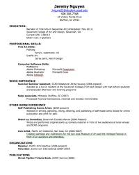 How To Make A School Resumes How To Create A Resume For Highschool