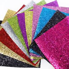 chunky glitter faux leather sheet