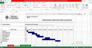 Construction Schedule Excel Template Engineering Management