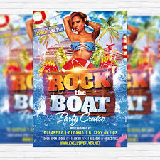 rock the boat premium flyer template facebook cover
