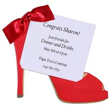 Red Shoe Invitation