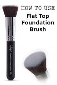 stipple brush use. how to use flat top foundation brush stipple