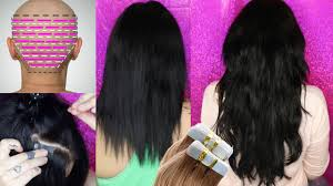 How To Apply Tape Hair Extensions Correctly At Home Save Irresistible Me Extensions