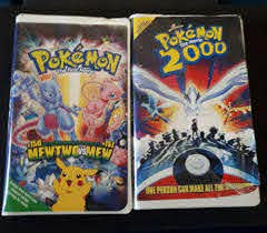 Pokemon The Movie 2000 and Pokemon The First Movie vhs