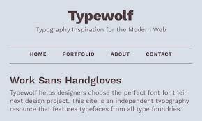work sans font sle