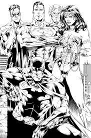 Batman, Wonder Woman, Superman, Flash and GL Ink by SWAVE18 ...
