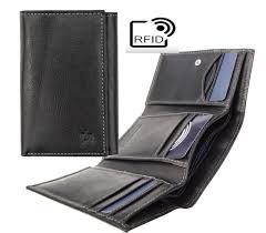prime hide outback men s rfid safe black leather trifold wallet with popper