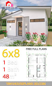 Studio House Plans 6x8 Shed Roof - Tiny House Plans | Cottage house plans,  House plans, 6x8 shed