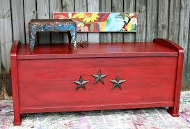 painted red furniture. Antiqued Red Cedar Chest Adorned With Iron Stars Petticoat Junktion Painted Furniture