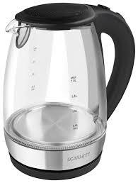 Купить <b>Чайник Scarlett SC-EK27G89</b>, серебристый/черный по ...