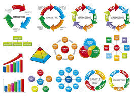 graphic business diagram collection business process diagrams    vector   graphic business diagram collection business process diagrams  bar graph  business diagram  circle chart  business process