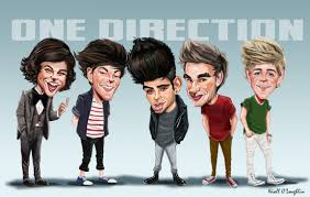 caricature picture of one direction