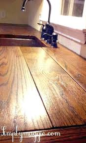wooden kitchen to make diy wood countertops plank
