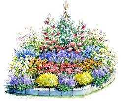 beautiful sunny summer garden plan