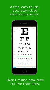 Eye Test Chart For Phone Eyechart Vision Screening On The App Store