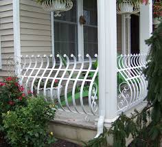 wrought iron railings pipe railing