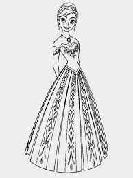 Coloring Pages Disney Princess Frozen Elsa And Anna Book For