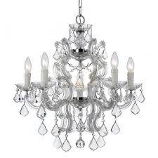 crystorama maria theresa 6 light swarovski strass crystal chrome chandelier