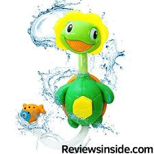 Baby Bath Water Pump Toys-Turtle Bathtub Spray with Spout Hand ...