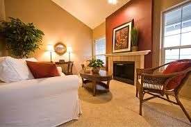 interior: Warm Living Room Nuanced Using Beige Wall Accents Paint Feat  Splendid Sofa And Oval