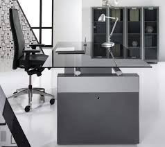 office glass desk. Smoked Grey Glass Desk Office