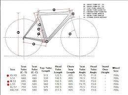 Look 695 Geometry Chart Look Frame Size Chart Framexwall Com